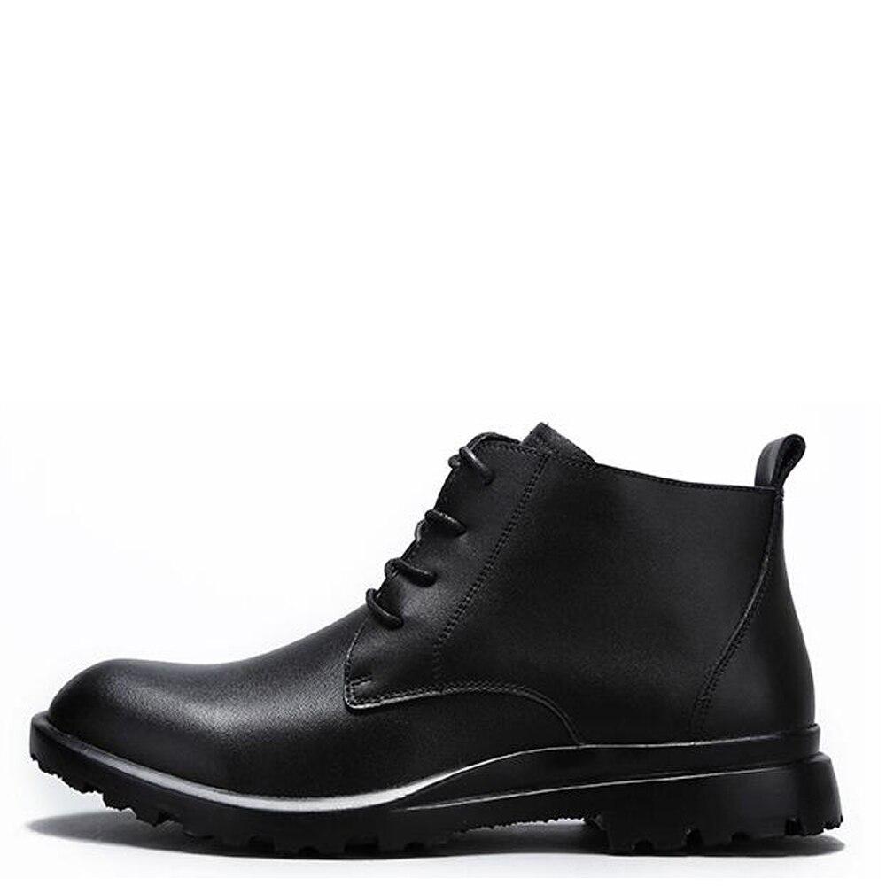 86452b5564b Comprar QFFAZ Otoño Invierno de los hombres botas de los hombres hechos a  mano de tobillo botas de cuero de vaca de invierno impermeable Martin botas  de ...