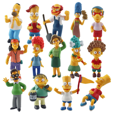 NEW hot 6-12cm 14pcs/set The Simpsons collectors action figure toys Christmas gift doll