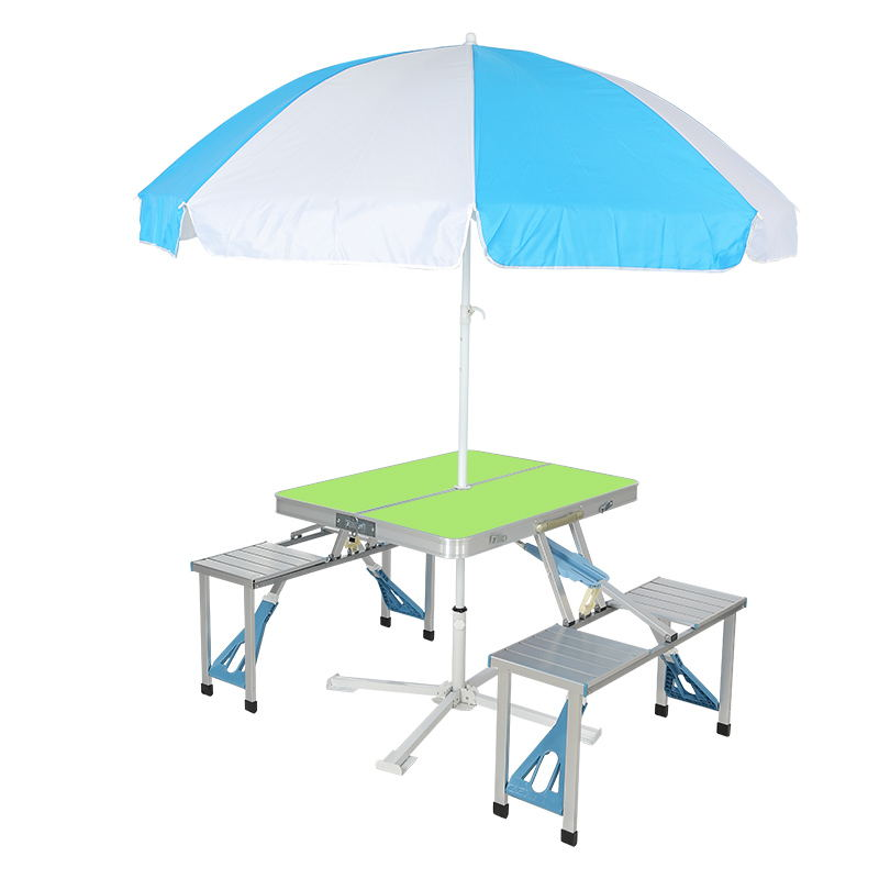 Folding aluminum alloy conjoined table and chair Foldable indoor and outdoor barbecue table Outdoor desk Tourism table mcintosh tourism – principles practices philosophies 5ed
