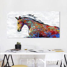 HDARTISAN Wall Art Canvas Painting Animal Picture Colorful Horse Poster Print Home Decor No Frame For