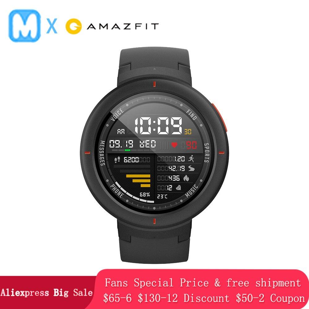 [Английская версия] Huami Amazfit грани часы Smart 3 Спортивные подключаемые к телефону часы вызова gps Smartwatch IP68 5-дней автономной работы Телефонный зв...