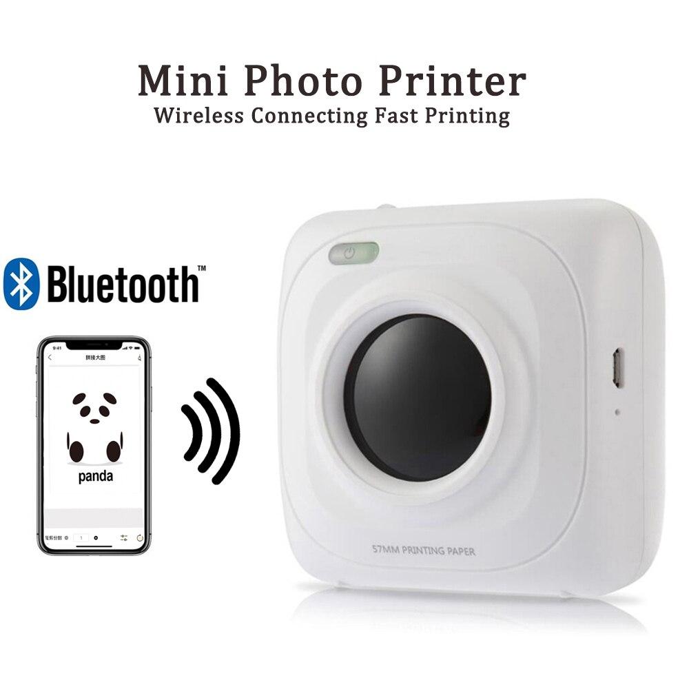 Портативный pos-принтер с Bluetooth мини Термальность фото принтер картинок для iOS, Android и Windows