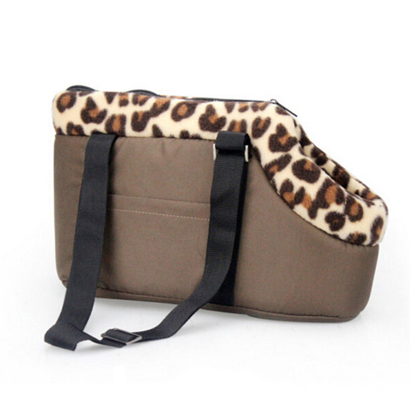 Pet Dog Carrier Dog Bag Pet Carrier Leopard Dots Printed Small Dog Bag Handbag Cat Carrier Portable Travel Carrying Bag Handbag
