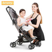 Besrey Capsule Baby Stroller Lightweight Air Plane Travel Mini Pushchair Foldable Portable 4 Wheels Pram Infant Baby Carriage