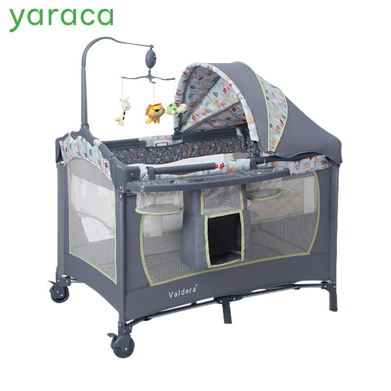 Lit bébé multifonctionnel Portable berceau pour enfants poids léger pliant jeux lits bébé berceau infantile parc taille 110*76 cm