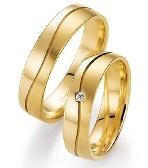 custom tailor elegant jewelry yellow gold plating titanium engagement wedding bands rings sets for him and - Wedding Rings Set For Him And Her