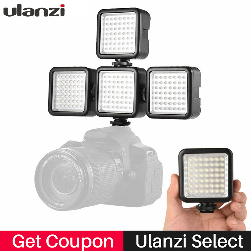 Ulanzi Pocket Mini Camera LED Video Light 6000K Photographic Night Fill led Lighting w 3 Hot Shoe Mounts for Nikon Canon DSLR DV