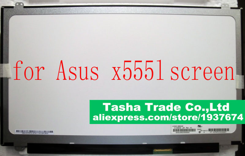 For Asus X555L X555 Screen LCD LED Display 15.6 WXGA 1366*768 HD Glossy LVDS 40pin only 6g av sender aomway mini 5 8ghz 200mw 32ch wireless a v transmission module transmitter tx range 3km