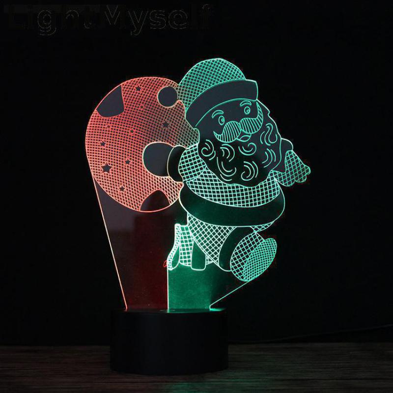 Led Table Lamps Animation 3d Lamp Colorful Touch Visual Small Table Light Luminaria De Mesa Table Lamps For Living Room Desk Lamp Led Lamps