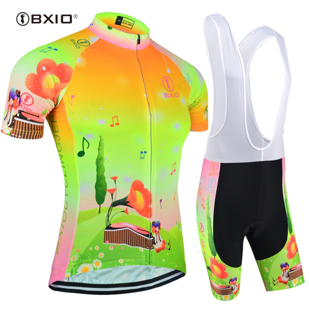 BXIO Brand Women Fluo Cycling Jersey Short Sleeve Bicycle Clothing Top Grade Tour Team Bike Clothes Ropa Ciclismo BX-0209FG-124
