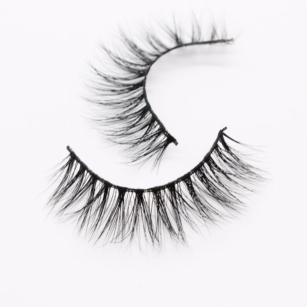 f70ce487b2c Ptcharming Handmade 100% Real Siberian Mink False Eyelash Individual  Eyelashes Extension 3D Faux Lashes PTAME A03-in False Eyelashes from Beauty  & Health on ...