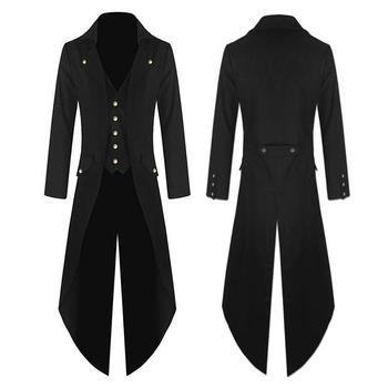 Hommes Trench manteau léger smoking robe Designer mode Long manteau Style Punk simple-boutonnage coupe-vent mince Trench queue manteau