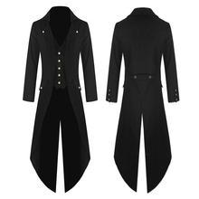 Men Trench Coat Lightweight Tuxedo Dress Designer Fashion Long Coat Punk Style S