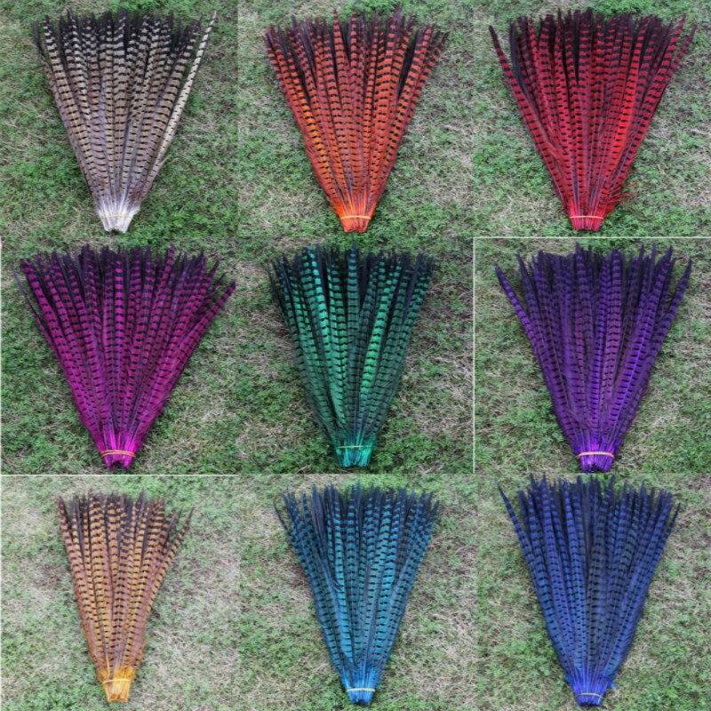 Wholesale 50pcs lot beautiful natural Ringneck Pheasant Feathers 20 22inch 50 55cm long Black Pheasant Feather