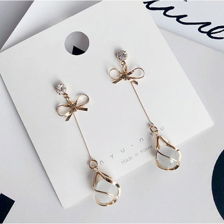 fashion Silver Needle dangle earrings statement earrings korean earrings for women statement earring aretes 2019 jewelry in Drop Earrings from Jewelry Accessories