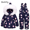 Baby Clothing Sets Girls Winter Warm Down Jacket Suit Set Thick Coat Jumpsuit Baby Clothes Set