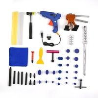 Paintless Dent Repair PDR Tools Slide Hammer Puller Hail Removal Auto Car Body Tap Kit with PDR Glue Sticks + PDR Glue Tabs