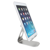 270 Degree Silver Rotate Aluminum Alloy Desktop Tablet PC Mobile Phone Stand Holder Bracket For IPhone