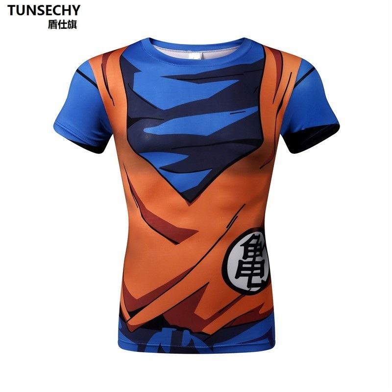 Brand Dragon Ball Z T Shirt Men Fashion Men's Casual T-shirt Short Sleeve Goku Anime Cosplay 3D t-shirt Homme 4XL