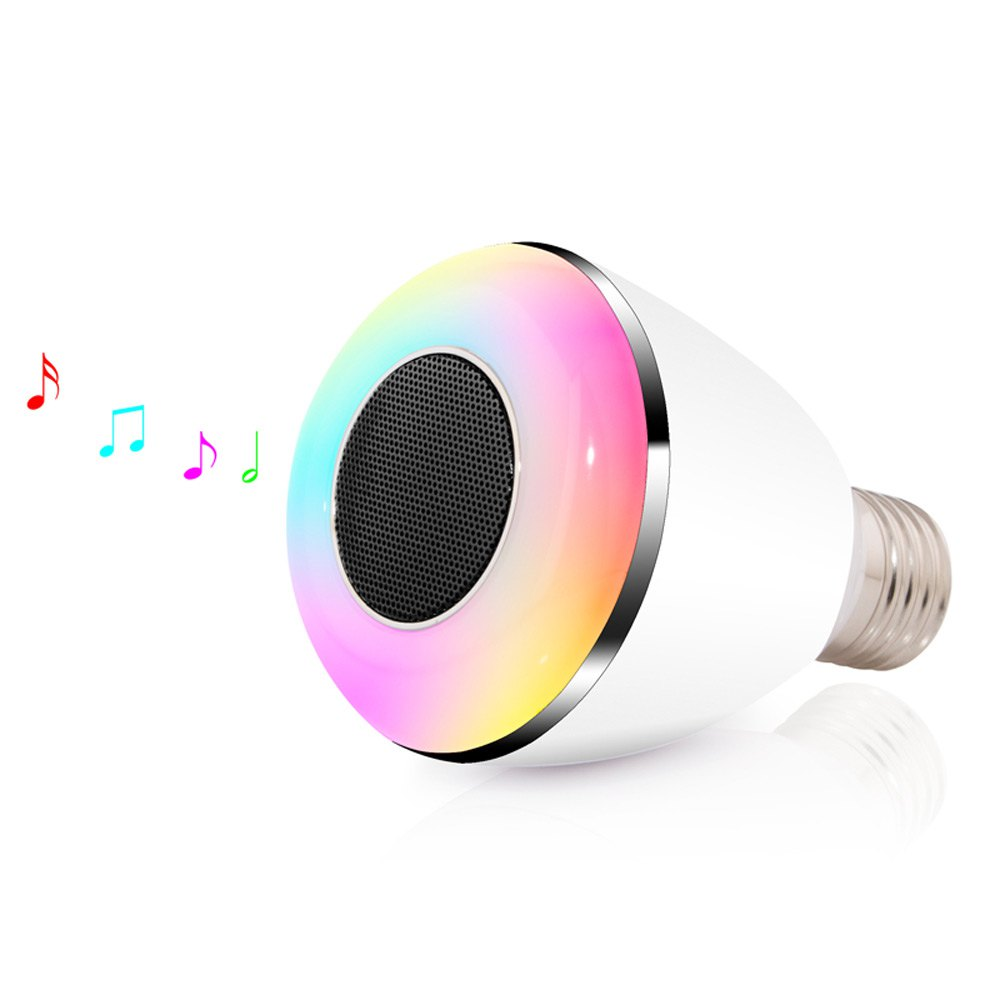 Big Discount High Quality Wireless E27 Led Rgb Bluetooth Speaker Bulb Light Lamp Music Playing