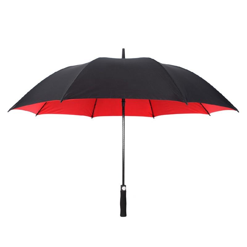 Super Large Double Double Golf Umbrella Eight-strand Full Fiber Umbrella Stand Wind and Radiation Protection Straight Umbrella