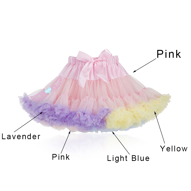 New Adult Neon Pink White frilly skater Skirt Dance show Party Festival Lolita