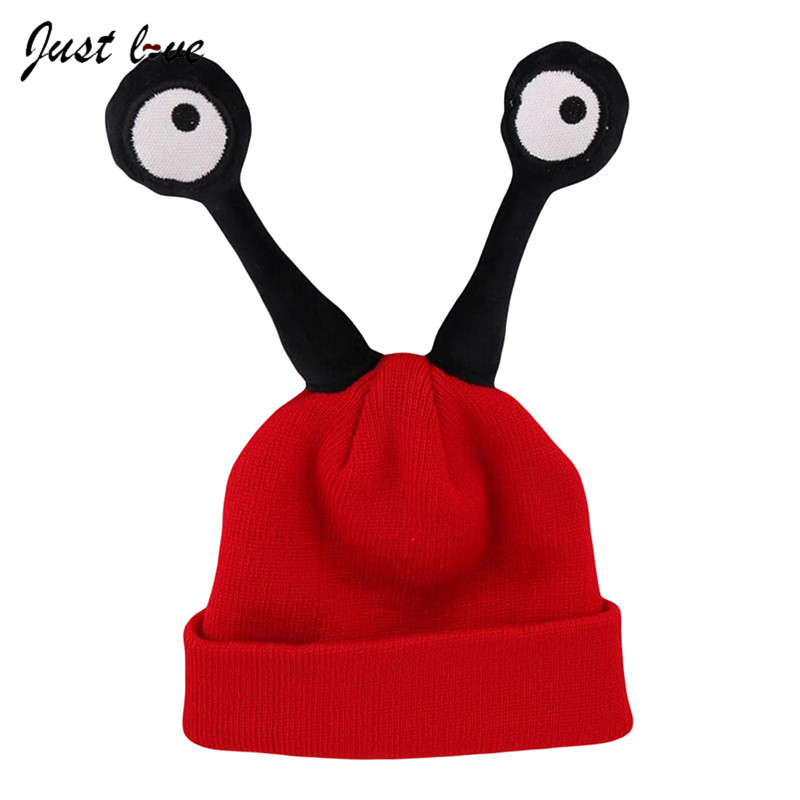 Cute Baby Winter Hat Cartoon Insect Kids Bonnet Warm Wool Knitted Cap Caps Beanie Cute Eyes Baby Boy Girls Children's Hat winter wool red yellow star cap cute knitted hat children boy girl caps