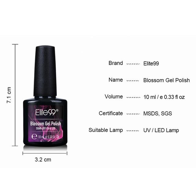 Elite99 10ML Blossom UV Gel Nagellack LED Lampe DIY Nail art Gel Polish Reine Farben Semi Permanent Gel lack Basis Top Mantel
