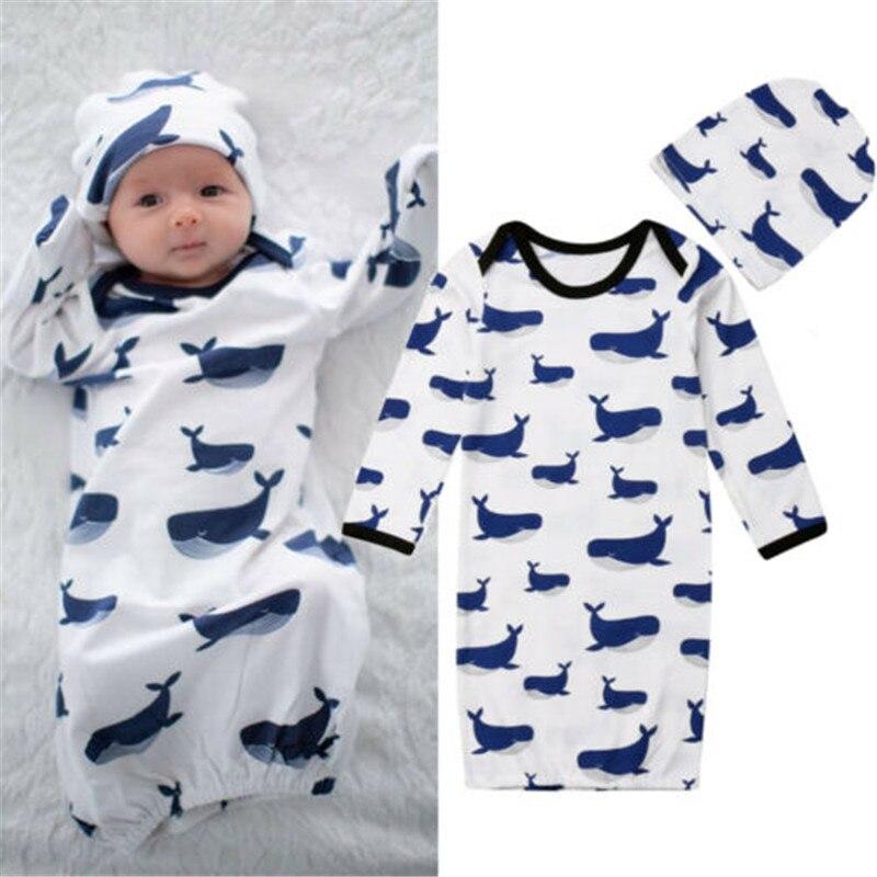 2019 Sommer Baby Schlafsack Weiche Baumwolle Dicke Decke Cartoon Shark Babys Neugeborenes Kind Kinder Schlafsäcke Decke Schwellen Den Speichel Auffrischen Und Bereichern