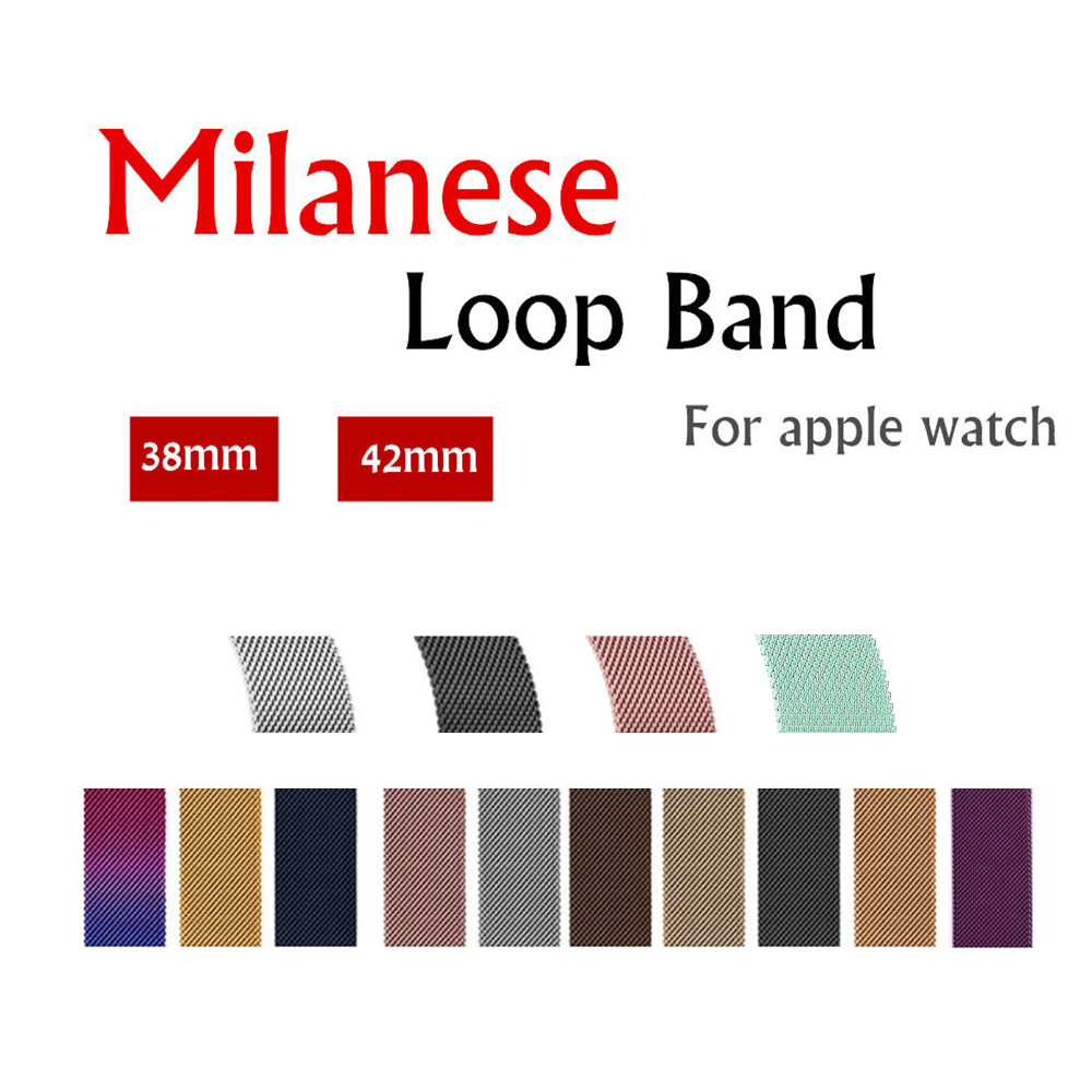 Milanese Loop band para Apple Watch Correa 42mm/38mm iwatch 3/2/1 acero inoxidable enlace pulsera Correa hebilla magnética