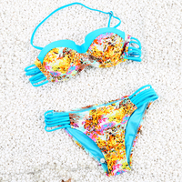 2017 Bandage Swimwear Women Low Waist Swimsuit Sexy Top Bottom Bathing Suit Female Push Up Bikini