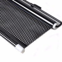 New 58 125cm Black Color Retractable Car Auto Front Rear Windshield Sun Shade Cover FOR Ford
