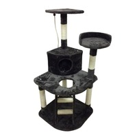 Cat Tree Activity Centre Scratcher Playing Tree Kitten Furniture Scratching Post Sisal Climbing Frame With Toys House Bed