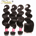Nadula Hair With Closure 7A Malaysian Virgin Hair Body Wave 3 Bundles And Closure Unprocessed Malaysian Body Wave With Closure