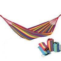 NEW Load Bearing Outdoor Garden Hammock Hang Bed Travel Camping Swing Survival Outdoor Sleeping Free Shipping