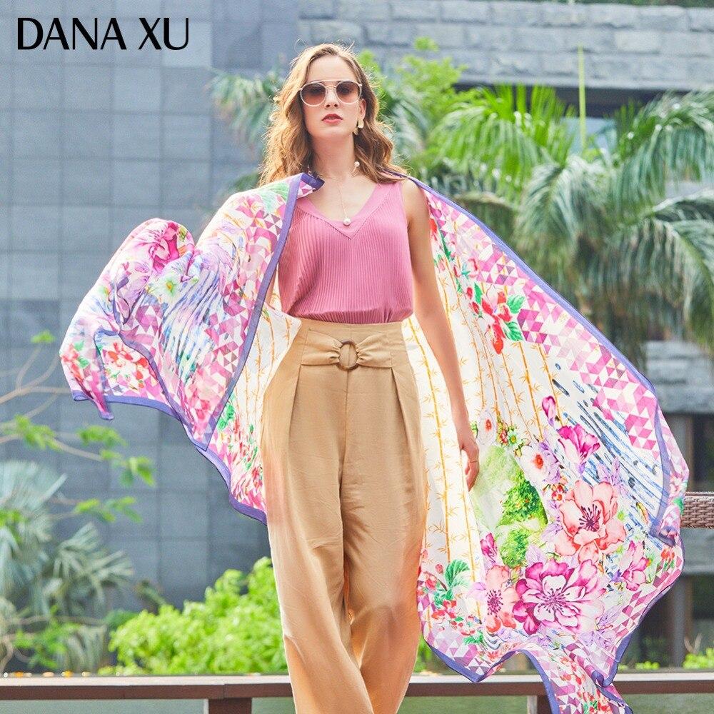 2019 soie longue écharpe marque de luxe femmes nouveau Design plage couverture châle maillots de bain Bandana Hijab visage bouclier Foulard 245*110 cm