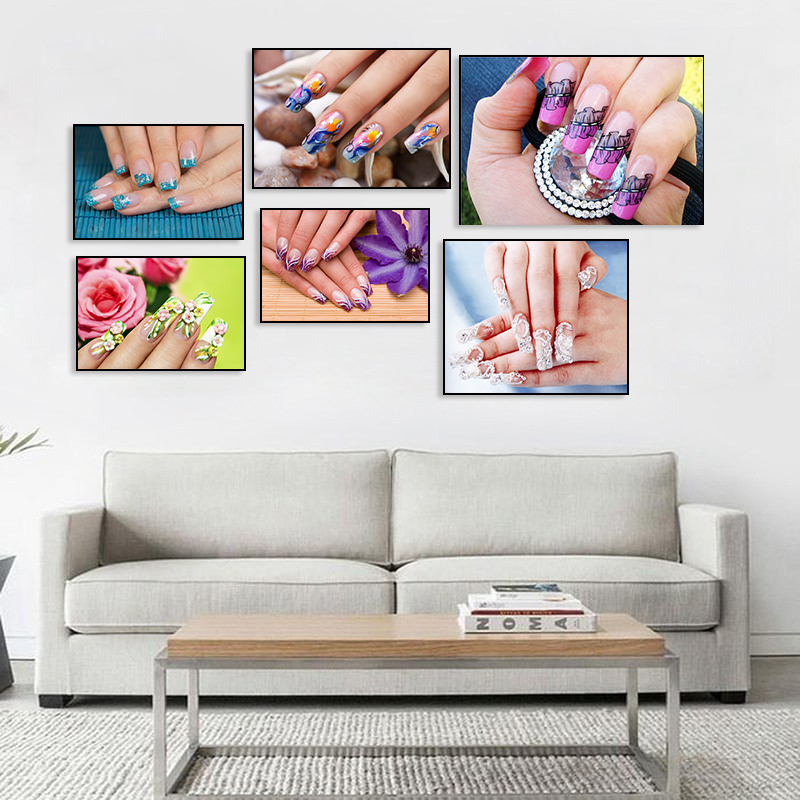 Nordic Beauty Nail Polish Canvas Decor Painting Poster