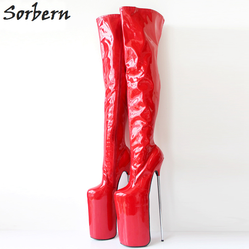 23be59d2ce9 Sorbern Women Shoes Sexy 30CM Extreme High Heel Metal Heels Nightclub Boots  + 20CM Platform Zipper. sku: 32858582021