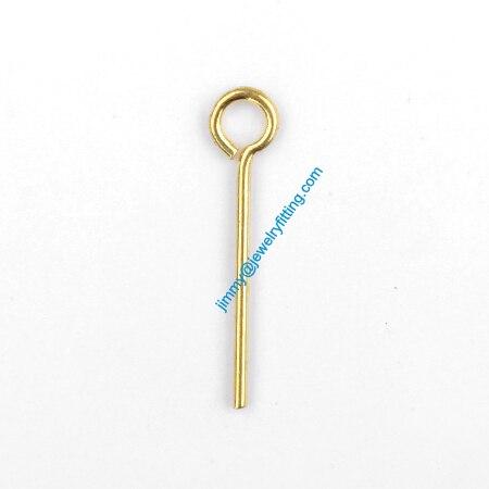 Ювелирных изделий выводы контакты глаз латунь Pins ; шарф прикалывает заключения 0.7 * 15 мм
