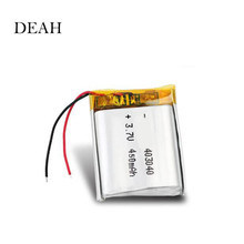 3.7V 450mAh 403040 Lithium Polymer Li-Po li ion Rechargeable Battery For MP3 MP4 GPS Bluetooth Tachograph Car DVR speaker cells(China)