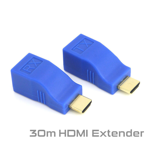 HDMI Extender Transmitter TX/RX HDMI V1.4 HD 1080P to 30M Over CAT6 RJ45 Ethernet Cable 2016 New for TV Projector DVD