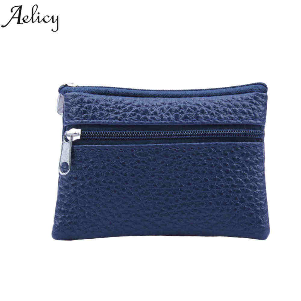 Aelicy Leather Coin Purse Women Small Wallet Change Purses Mini Zipper Money Bags Children's Pocket Wallets Key Holder carteira