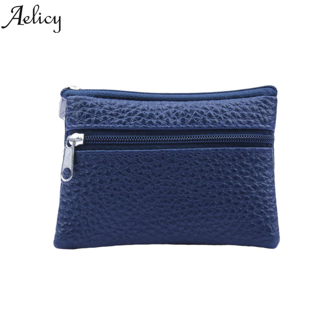 Aelicy Small Wallet Key-Holder Change-Purses Money-Bags Pocket Leather Coin Mini Zipper title=