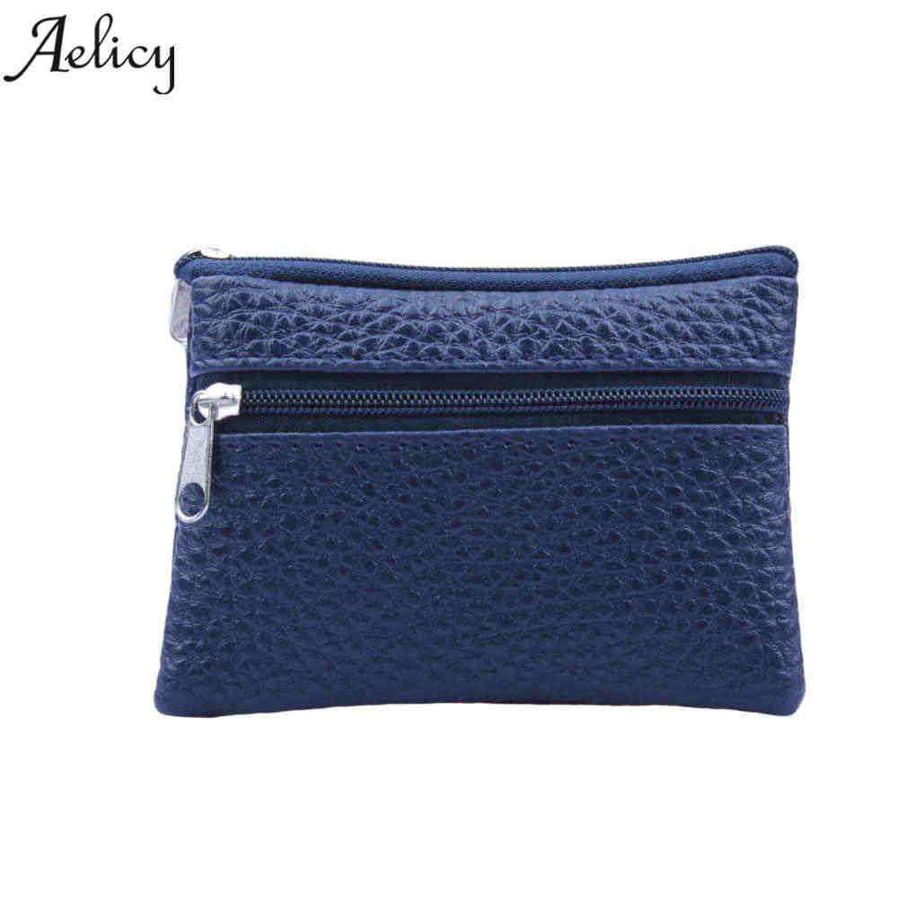 6e386a65c63f Aelicy кожаные портмоне Для женщин маленький кошелек, Кошельки Мини молнии  денежные мешки детская карман кошельки