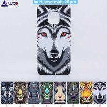 Original Luxo rei Da Floresta Série Animal Enfrenta Capa Animais Leão Lobo Coruja Padrão Rígido de Volta Caso de Telefone para Huawei Companheiro 20 pro