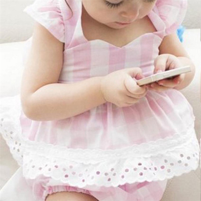 Cute baby girl dress newborn dresses infant baby girls princess bowknot lace dress shorts clothes