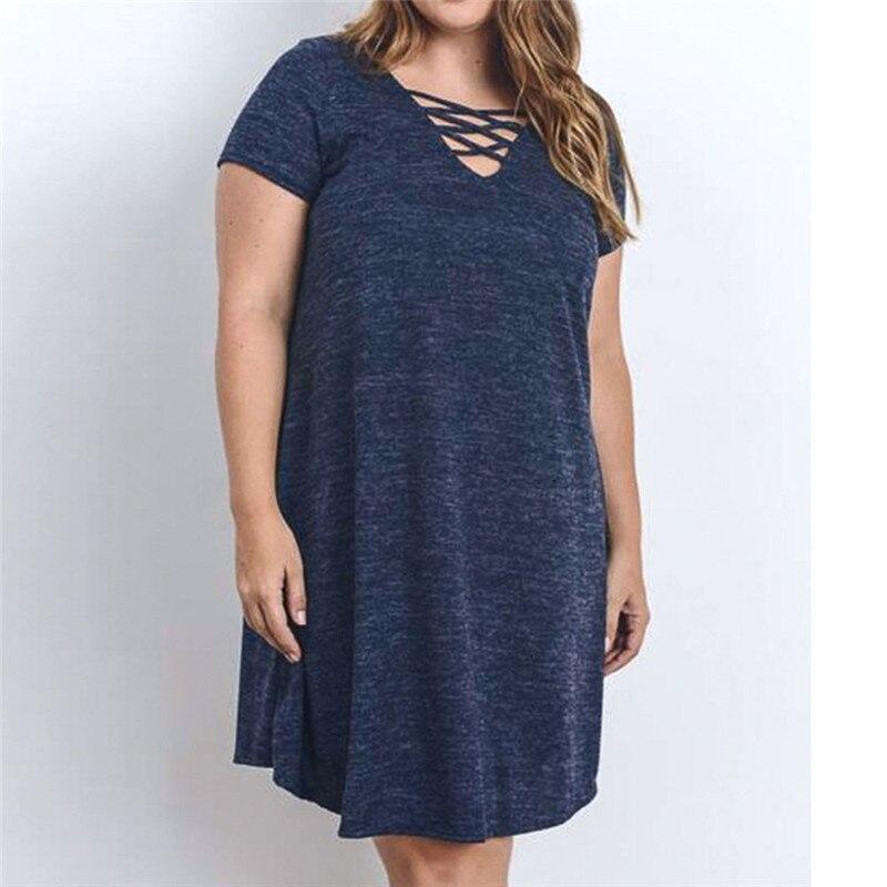 Plus Size Women Dress 100%Cotton Summer women Short Sleeve Casual Fashion Dress maternity dress Eat whatever you want JU 28