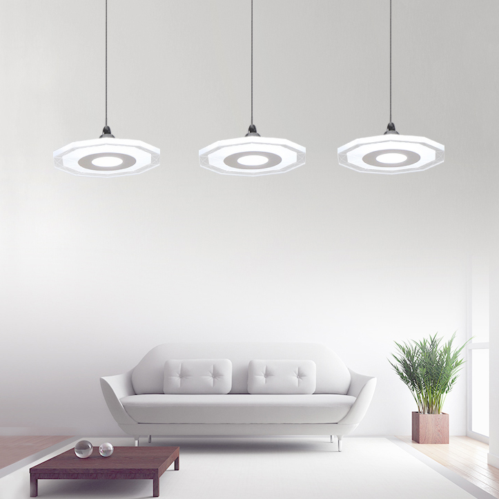 Здесь продается  Modern minimalist restaurant pendant lamp three LED fashion dining room personalized corridor lighting  Свет и освещение