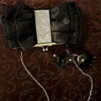 LOLIBOX New Women Bags Lovely Diamond Bow Evening Clutch Bags Black Bride Wedding Party Purse Clutch