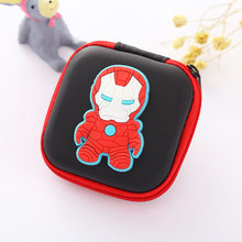 Anime Iron-man Headset Holder Rectangle Cartoon Silicone Coin Purse Super Hero Organizer Wallets Gift Kids Boy Girl Coin Bags(China)